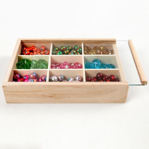 Boîte vitrine en bois à décorer - 17 x 13 cm - Photo n°2
