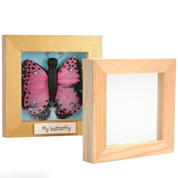 Cadre en bois 3D - 18,2 x 23,2 x 2,5 cm - Photo n°2