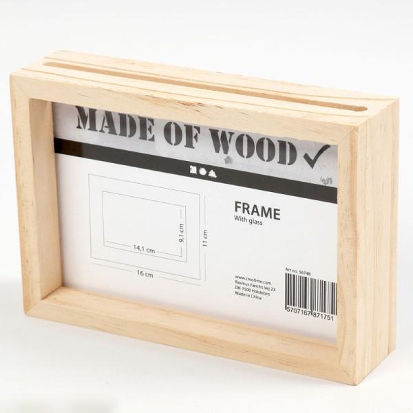 Cadre en bois 3D - 16 x 11 x 4 cm - Photo n°3