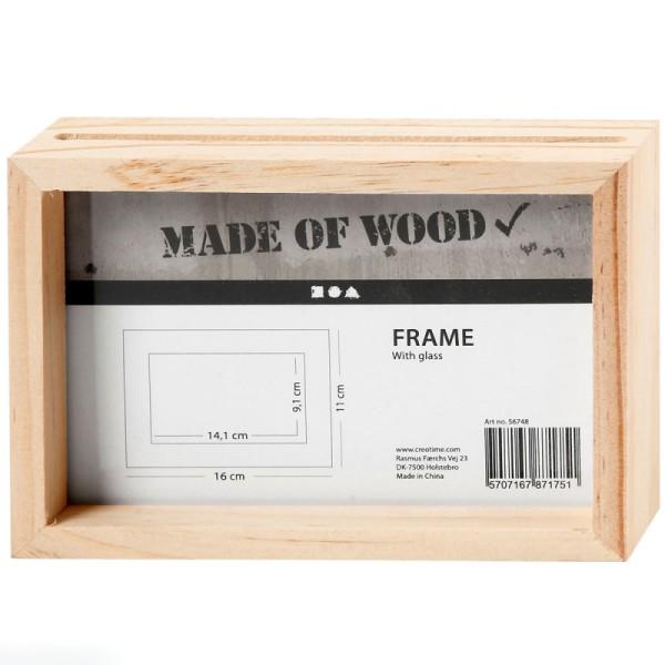 Cadre en bois 3D - 16 x 11 x 4 cm - Photo n°1