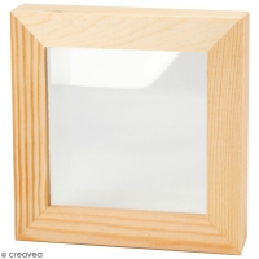 Cadre en bois profond - 12,3 x 12 ,3 x 2,5 cm
