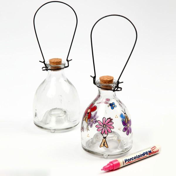 Piège à guêpes en verre - 8,5 x 13 cm - Photo n°2