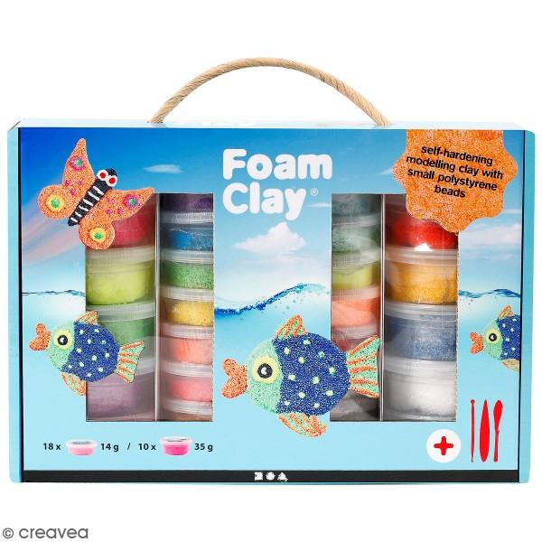 Kit modelage pâte Foam clay - 31 pcs - Photo n°1