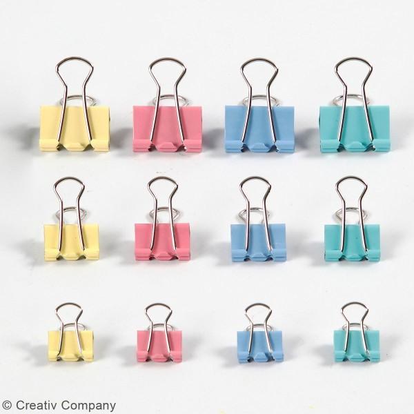 Assortiment Pinces double clip - Multicolore - 30 pcs - Photo n°2