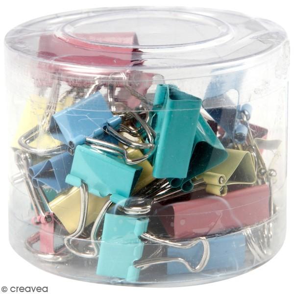 Assortiment Pinces double clip - Multicolore - 30 pcs - Photo n°1