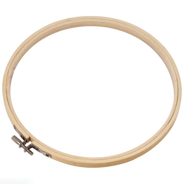 Cadre tambour broderie en bois - 20 cm - Photo n°1