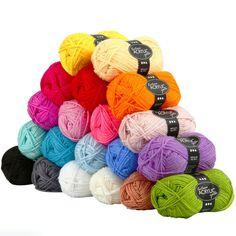 Assortiment de Laine acrylique 50 gr - Multicolore - 20 pcs