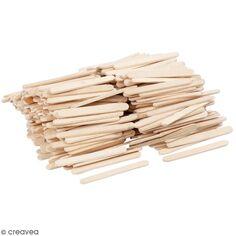 Bâtonnets de bois - 5,5 x 0,6 cm - 400 pcs