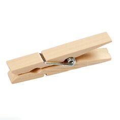 Pinces à linge en bois - 4,8 x 0,6 cm - 50 pcs