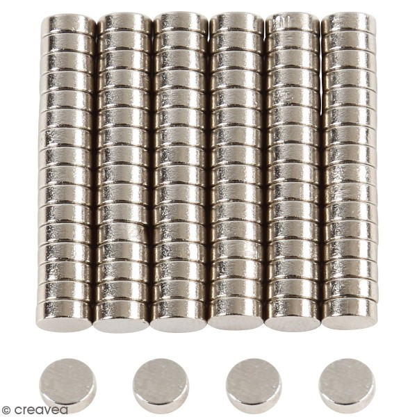 Lot mini aimants ronds - 5 mm - 100 pcs - Photo n°1