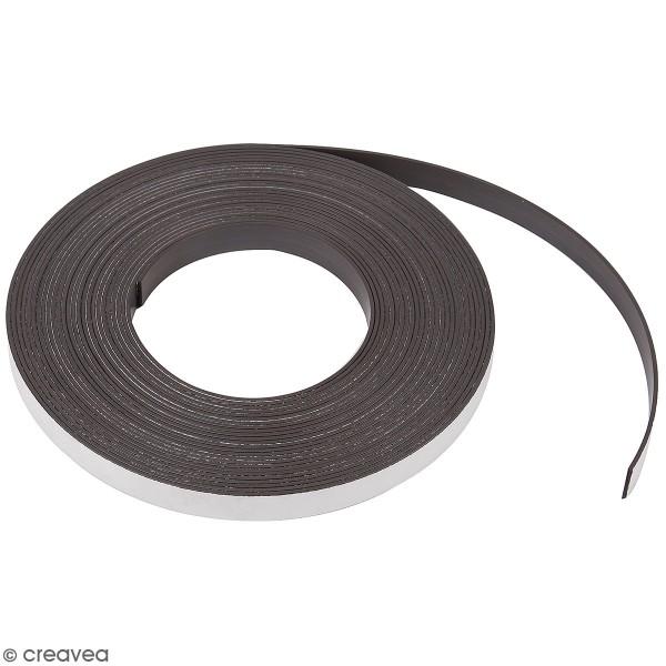 Bande adhésive aimantée - 1,2 cm x 10 m - Photo n°1