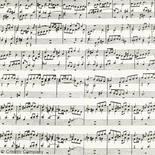 Papier kraft imprimé - Partition de musique - 10 feuilles - Photo n°2