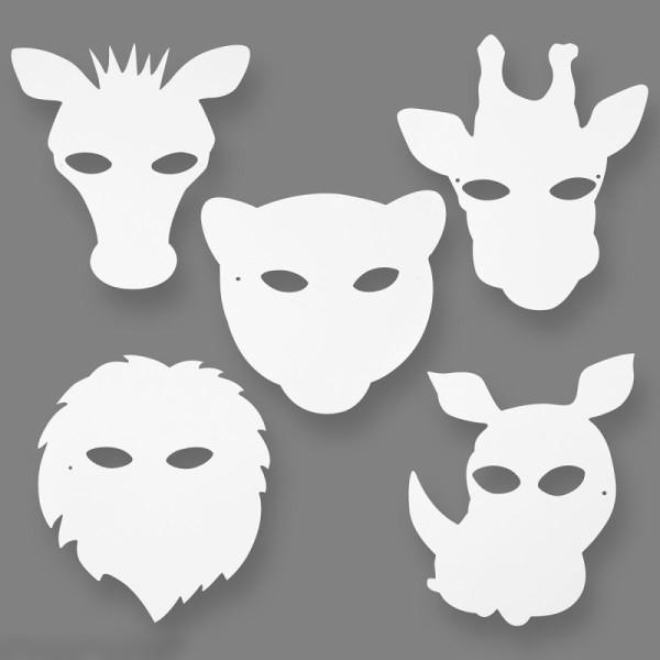 Masques à colorier - Animaux de la jungle - 16 pcs - Photo n°2