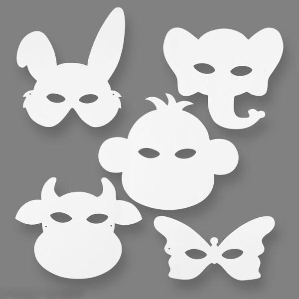 Masques à colorier - Animaux - 16 pcs - Photo n°2