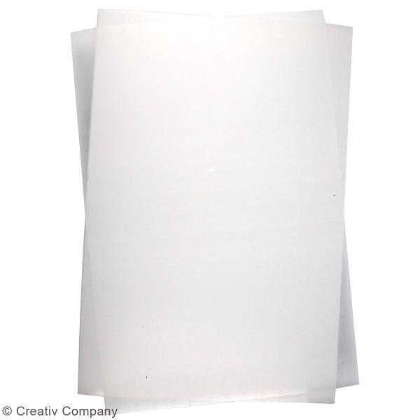 Plastique dingue blanc mat - 20 x 30 cm - 10 pcs - Photo n°3