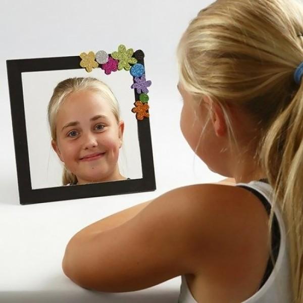 Plaque miroir plastique - 21 x 29,5 cm - 1 pce - Photo n°3
