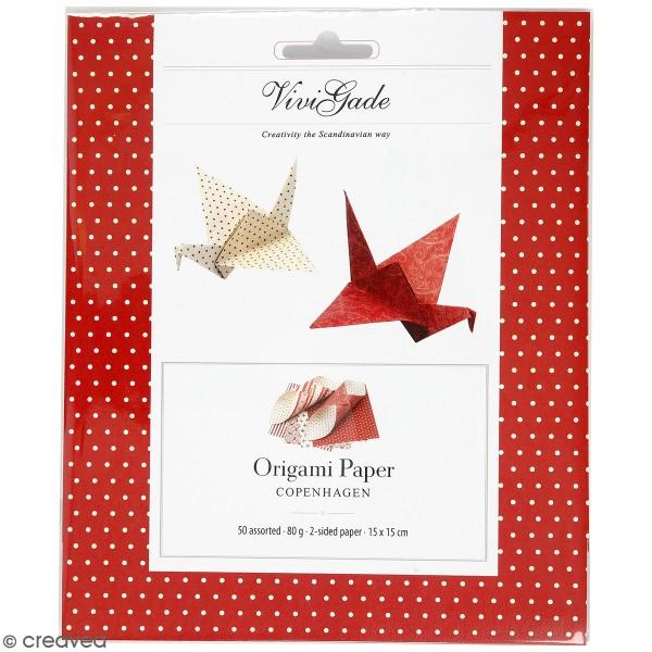 Papier Origami - Scandinave - 15 x 15 cm - 50 pcs - Photo n°1