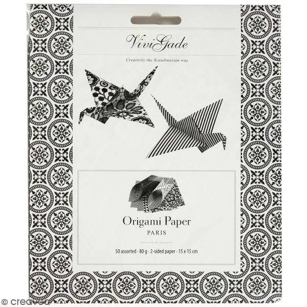 Papier Origami - Paris - 15 x 15 cm - 50 pcs - Photo n°1