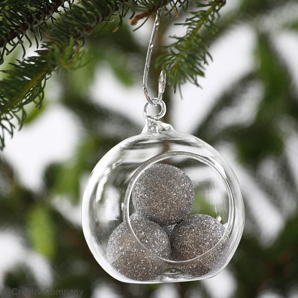 Boules en verre ouvertes - 8 cm - 6 pcs - Photo n°2