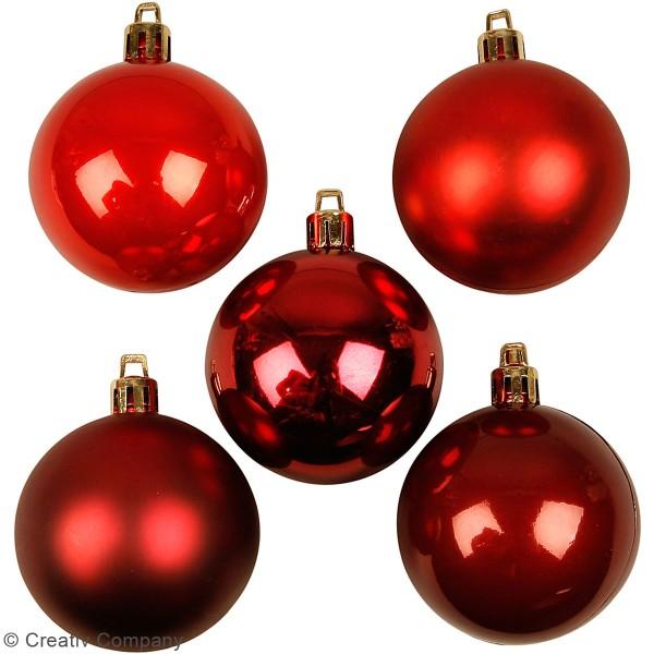 Boules de Noël - Rouge - 6 cm - 20 cm - Photo n°2