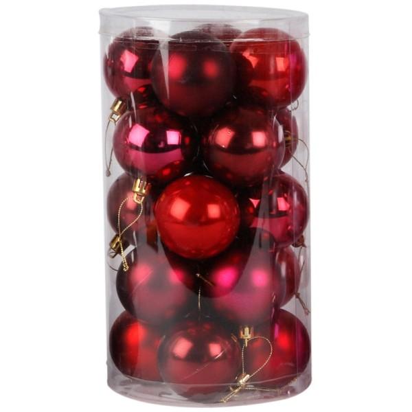 Boules de Noël - Rouge - 6 cm - 20 cm - Photo n°1