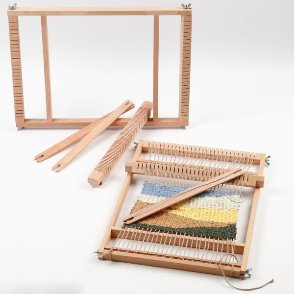Métier à tisser en bois - 28 x 39 cm - Photo n°2