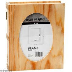 Boîte livre en bois à décorer - 18 x 21,7 x 5,5 cm