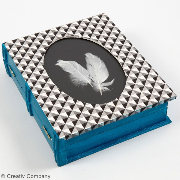 Boîte livre en bois à décorer - 18 x 21,7 x 5,5 cm - Photo n°2