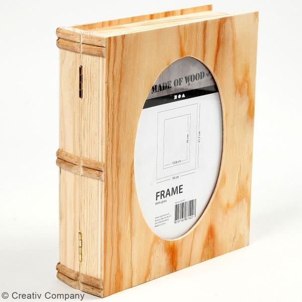 Boîte livre en bois à décorer - 18 x 21,7 x 5,5 cm - Photo n°3
