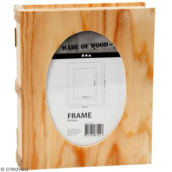 Boîte livre en bois à décorer - 18 x 21,7 x 5,5 cm - Photo n°1