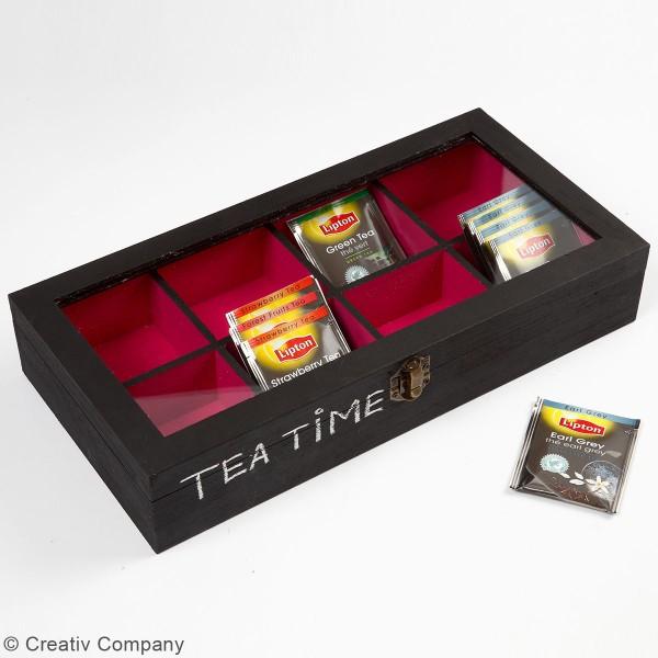 Boîte à compartiments en bois à décorer - 32 x 16 x 6 cm - Photo n°2