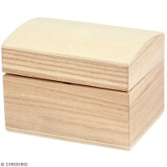 Coffret en bois à décorer - 8 x 6 x 4,5 cm