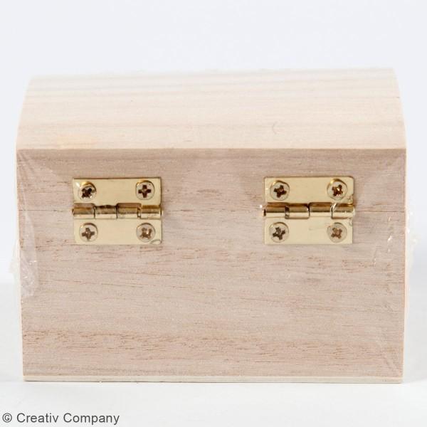 Coffret en bois à décorer - 8 x 6 x 4,5 cm - Photo n°2