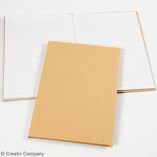 Carnet de notes A4 à décorer - Couverture rigide - Brun - Photo n°2