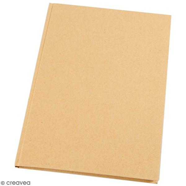 Carnet de notes A4 à décorer - Couverture rigide - Brun - Photo n°1