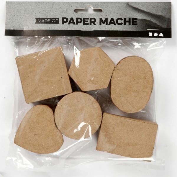 Assortiment mini boites papier mâché - 6 pcs - Photo n°2