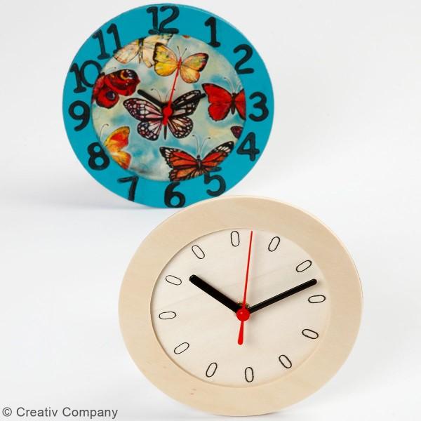Horloge ronde à décorer - 15 cm - Photo n°2