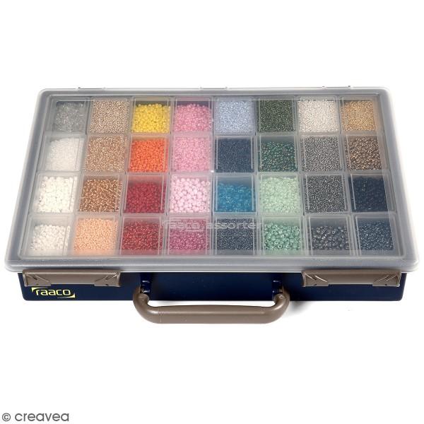 Lot Perles de rocailles - 32 x 100 g - 1,7 à 4 mm - Photo n°1