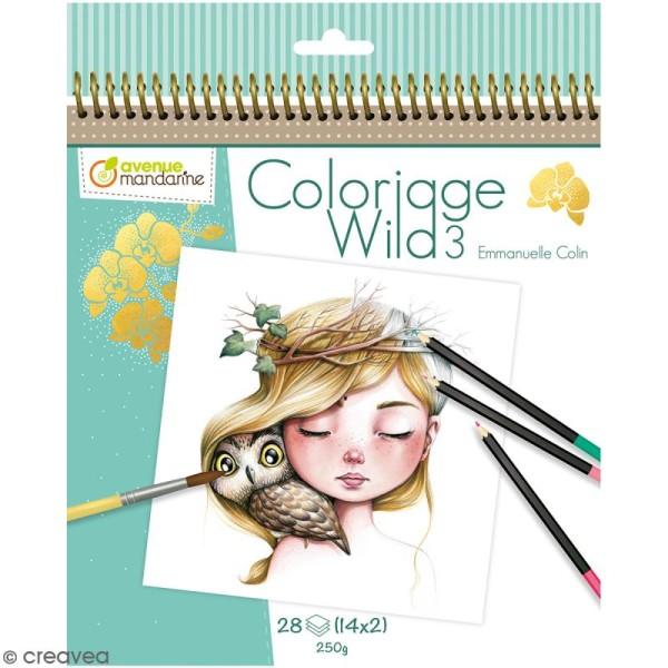 Carnet de coloriage collector Wild 3 - 28 visages à colorier - Photo n°1