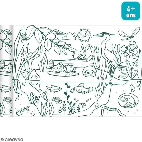 Rouleau de papier à colorier Graffy Roll - Ecosystème - 35 cm x 5 m - Photo n°1
