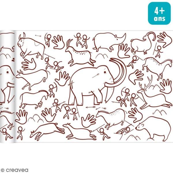 Rouleau de papier à colorier Graffy Roll - Peintures préhistoriques - 35 cm x 5 m - Photo n°1