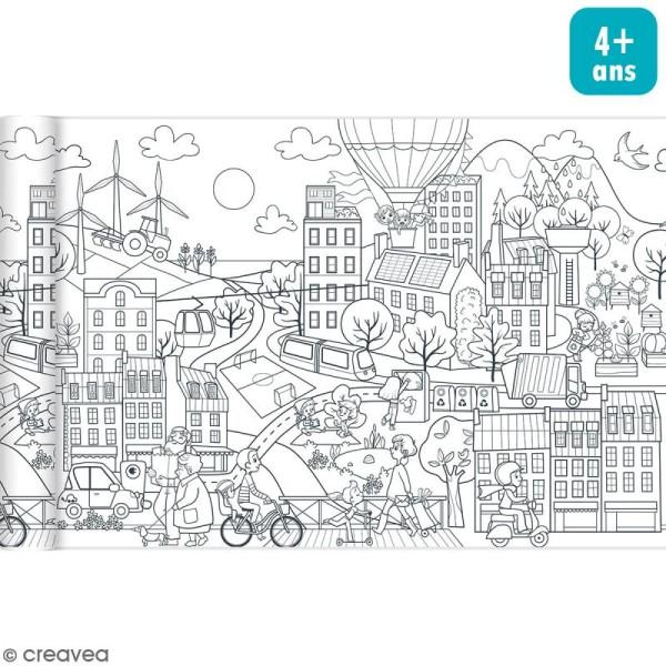 Rouleau De Papier A Colorier Graffy Roll Ville Ecologique 35 Cm