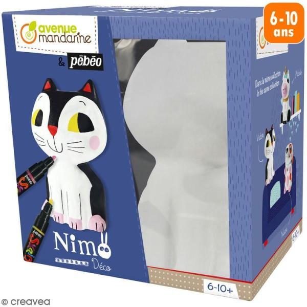 Kit support à décorer Nimo Déco - Victor le chat - Photo n°1