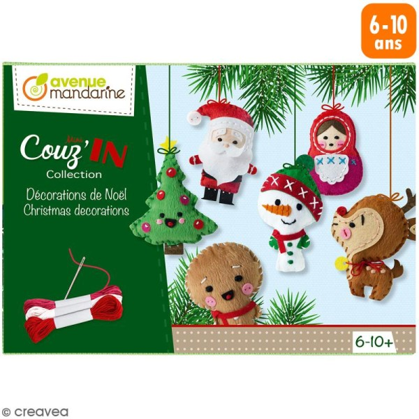 Kit créatif Couz'in Collection - Décorations de Noël - 6 pcs - Photo n°1