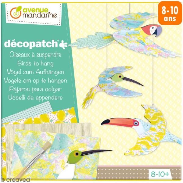 Kit créatif Decopatch - Oiseaux à suspendre - Photo n°1
