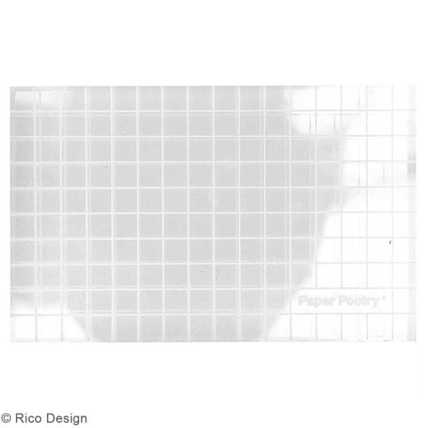 Bloc acrylique pour tampons transparents - 5 x 8 cm - Photo n°2