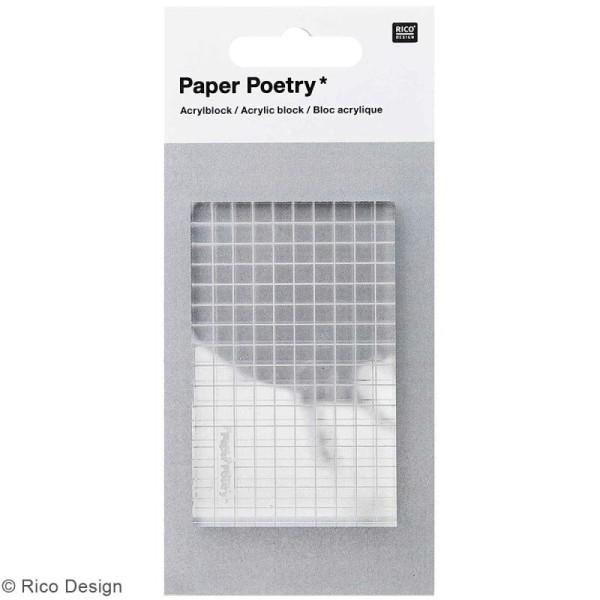 Bloc acrylique pour tampons transparents - 5 x 8 cm - Photo n°1