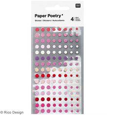 Mini stickers géométriques - Cercles Roses - 4 planches