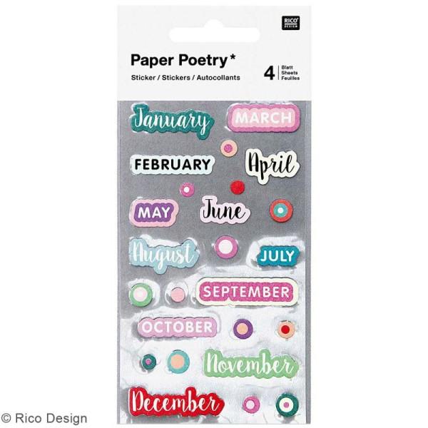 Stickers Planner Rico Design - Mois - 100 pcs - Photo n°1