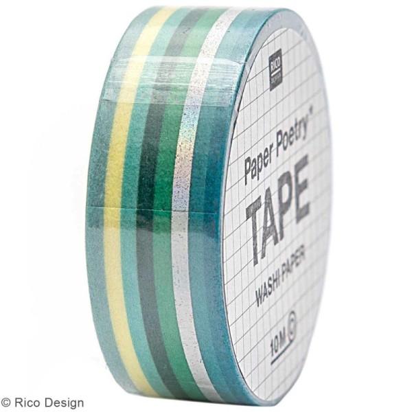 Masking Tape - Bandes Vertes et irisées - 1,5 cm x 10 m - Photo n°1